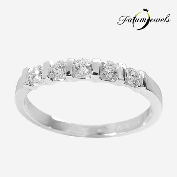 EF083-14k-Fehér-Arany-025ct-Gyémánt-Eljegyzési-Gyűrű