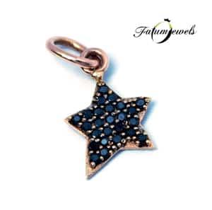 rose-arany-gyemant-medal-fekete-mini-csillag-fr500-0-06ct-fekete-opac-14k