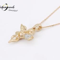 rose-arany-gyemant-medal-lanccal-angyalka-ptm03-0-01ct-w-vs1-si1-14k-2
