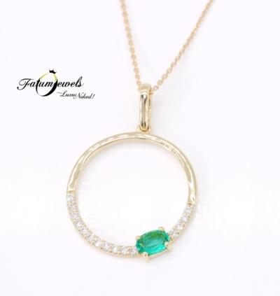 sarga-arany-gyemant-smaragd-medal-orakulum-fr251-0-10ct-w-vs1-zafir-0-13ct-li-14k-1