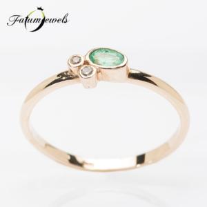 rose-arany-gyemant-smaragd-szett-ssz04-gyemant-0-048ct-h-i-vs1-si1-smaragd-0-68ct-mi-hi-14-3