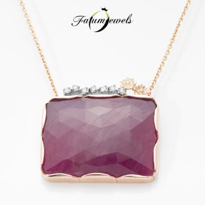 roze-arany-rubin-gyemant-medal-lanccal-spring-flower-fr2024-rubin-27-78ct-opak-gyemant-0-09ct-j-k-vs1-si2-14k