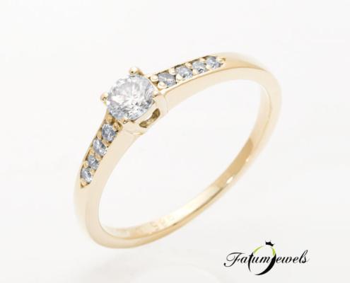 sárga arany gyémánt eljegyzési gyűrű jégvarázs fr258-w-vs1-0-30ct-14k-1