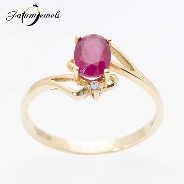 sarga-arany-rubin-gyemant-gyuru-fr2014-rubin-1-307ct-hi-gyemant-0-033ct-i-j-i1-i2-14k