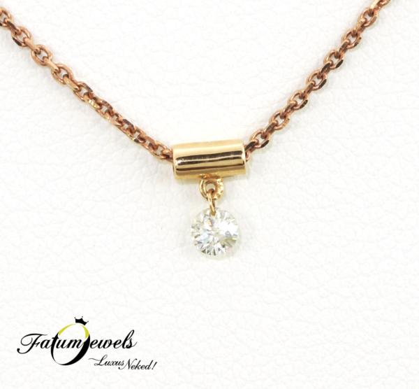 FR681-Rozé-arany-szoliter-gyémánt-medál-lánccal-183g-gyémánt
