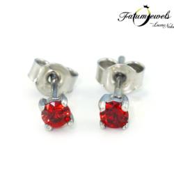 FR686-Fehérarany-bedugós-tűz-zafír-fülbevaló-085g-piros-zafír