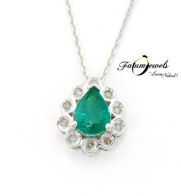 18k-feherarany-gyemant-smaragd-medal-lanccal-fr633-gyemant-0-04ct-h-j-vs1-si2-smaragd