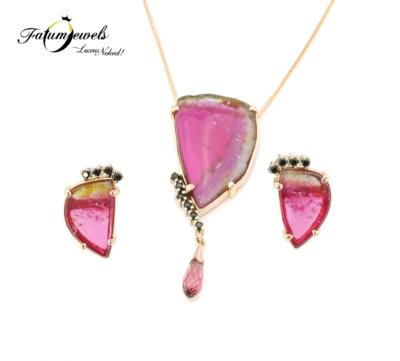 roze-arany-spinel-dinnye-turmalin-szett-fr619-dinnye-turmalin-22ct-li-hi-turmalin-0-827ct-li-fekete-spinel