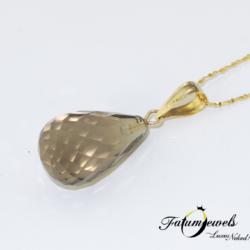 sarga-arany-fustkvarc-briolett-medal-fr646-fustkvarc