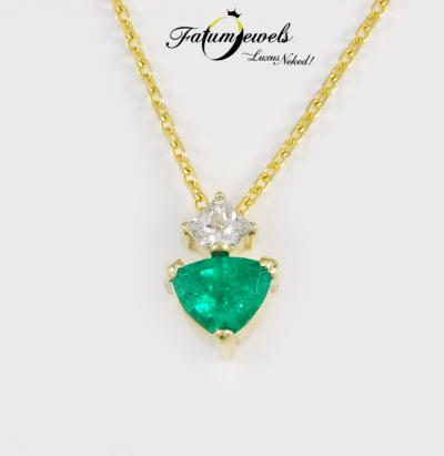 sarga-arany-gyemant-smaragd-medal-lanccal-fr766-gyemant-0-18ct-h-vs1-smaragd