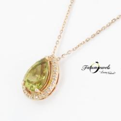 sarga-arany-gyemant-olivin-medal-lanccal-fr817-gyemant-peridot