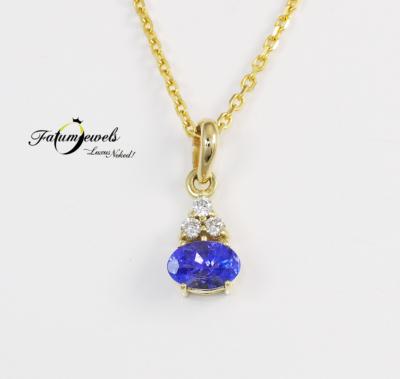 sarga-arany-gyemant-tanzanit-medal-lanccal-fr869-gyemant-tanzanit